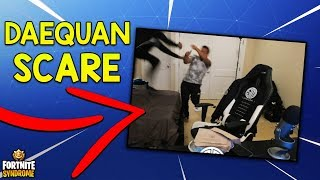 DAEQUAN SCARES THE SH*T OUT OF HAMLINZ! - Fortnite Moments #130