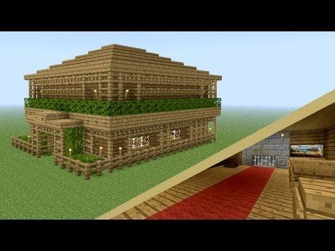 MINECRAFT: How to build wooden tavern