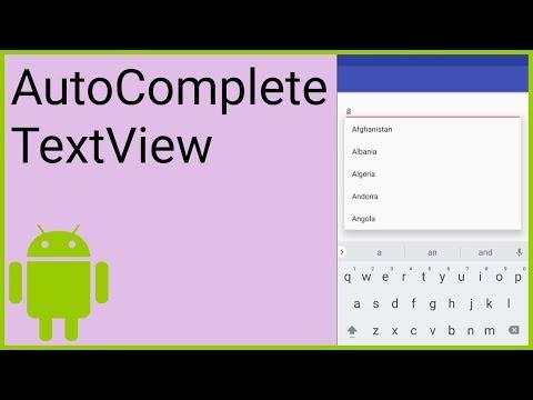AutoCompleteTextView - Android Studio Tutorial