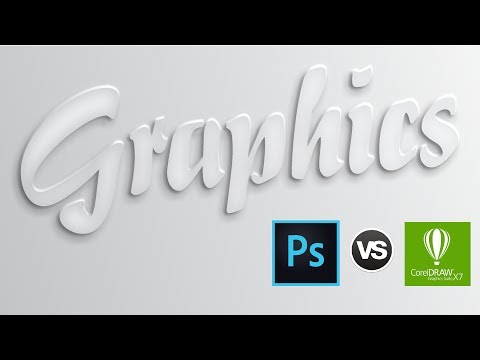 Photoshop cc 2017 -VS- Coreldraw x7 How to make 3D Text Effect By As Graphics