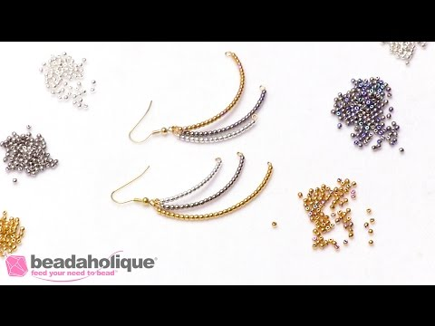 How to Make Cascading Dangle Earrings using Memory Wire