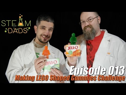 STEAMDads - Episode 013 - Making LEGO Shaped Gummies Challenge