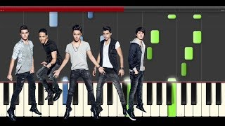 CNCO Cien piano midi tutorial sheet partitura cover app karaoke