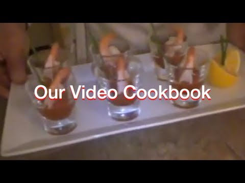 How to make Micro Shrimp Cocktail - Finger Food Recipe | Our Video Cookbook #56