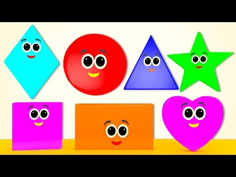 Shapes Song   Learn Shapes   Nursery Rhymes From Pre School