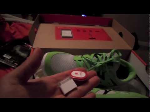 NIKE+ iPod nano with POLAR WEARLINK+ heart rate sensor & nike sports kit with nike free run setup