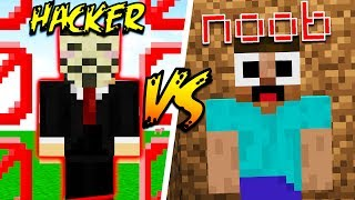 HACKERS vs NOOBS in MINECRAFT!