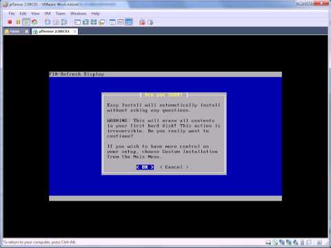 Install pfSense 2.0 RC1 on VMWare Workstation 7