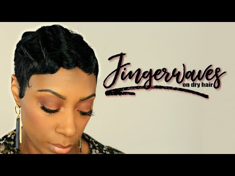 How To Create Finger Waves On Short Relaxed Hair | Kaye Wright