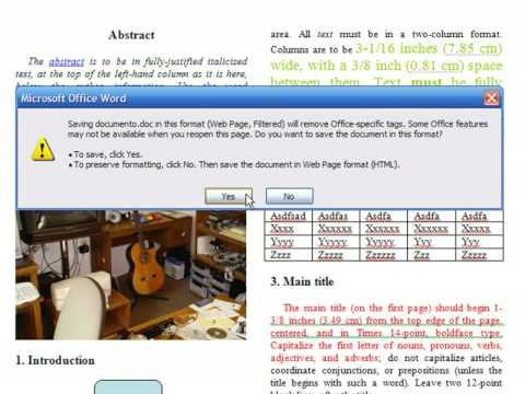 Creating a Website Using FrontPage : How to Convert a Word Document to HTML With FrontPage
