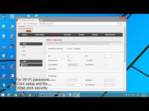 How to change Admin Password and WI-FI Password  PLDT myDSL  Router 2017