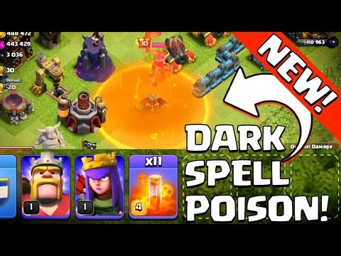 How To Use Poison Spell In Wars In Clash Of Clans ! Tutorial Video On Poison Spell !