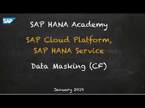 [2.0 SPS 04] SAP HANA Service, Security, Data Masking (CF) - SAP HANA Academy