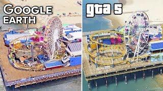 GTA 5 vs GOOGLE Earth #3 | Los Santos and Los Angeles Comparison