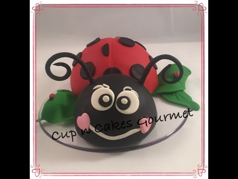 How to make a lady bug cake topper tutorial