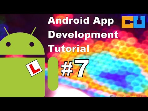 Android Tutorial #7: Create & launch an activity using explicit intent from a menu item.