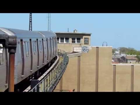 NYC Subway R46 A Train Departs Rockaway Blvd with Liberty Jct Tower
