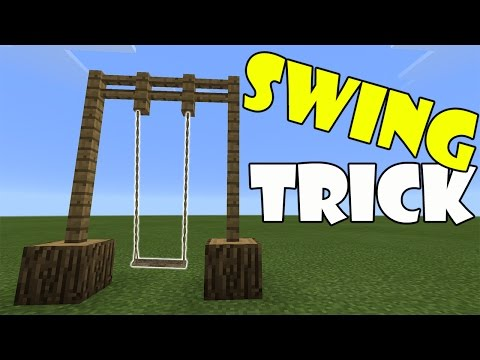 SWING TRICK   Minecraft PE (Pocket Edition) MCPE - PlayTunez World
