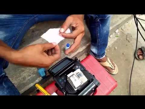 How to splice broken optical fiber cable practically