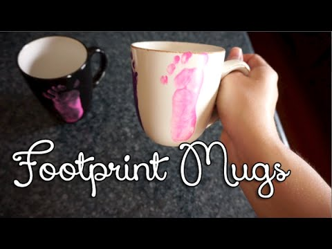 545: DIY Baby Footprint Mugs Gift Idea