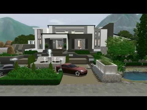 The SIMS 3 Modern Mansion : No Custom Content (Hidden Springs)