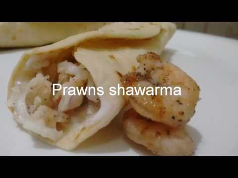 Prawns shawarma recipe at home