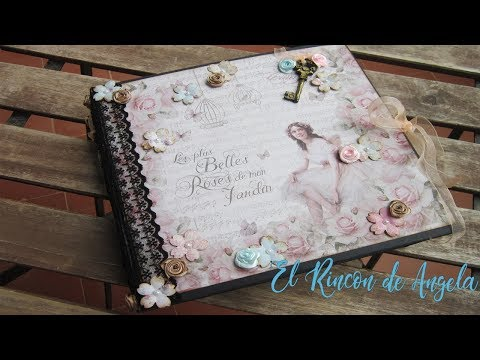 #1 Album Romantico scrap-Diy manualidades-Scrap - scrabooking-scrapbook