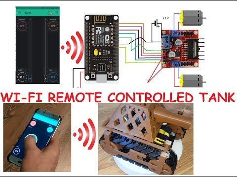 Arduino / ESP8266 / NodeMCU WiFi Controlled Tank