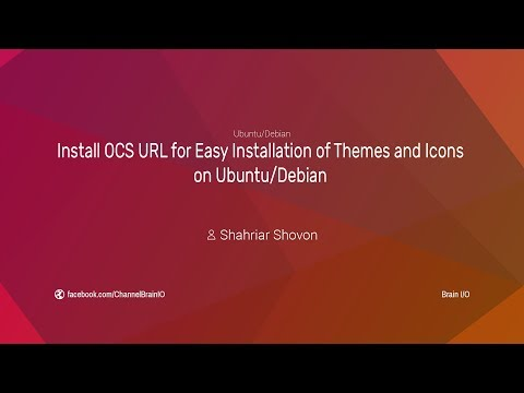 Install OCS URL for Easy Installation of Themes and Icons on Ubuntu/Debian