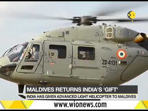 Maldives to return naval helicopter gifted by India