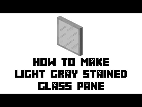 Minecraft Survival: How to Make Light Gray Stained Glass Pane