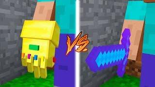 INFINITY GAUNTLET vs DIAMOND SWORD IN MINECRAFT!