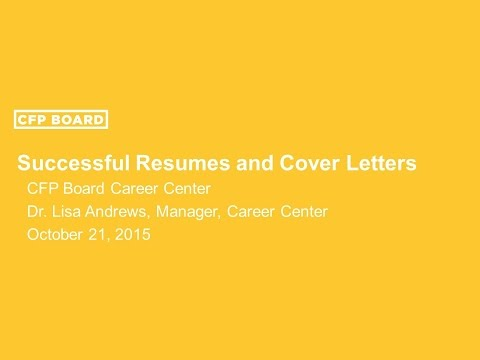 How to Write Successful Résumés and Cover Letters