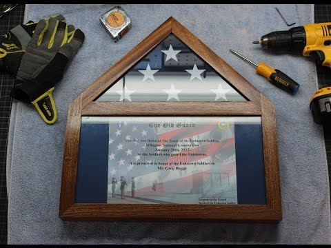 Build Your Own Flag Display Case With Certificate (Ensign Shadowbox)