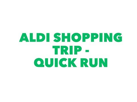 Aldi shopping run - how quick can you checkout after school
