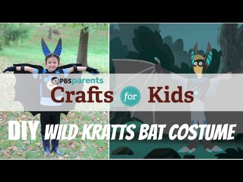 No-Sew Wild Kratts Bat Costume | Crafts for Kids | PBS Parents