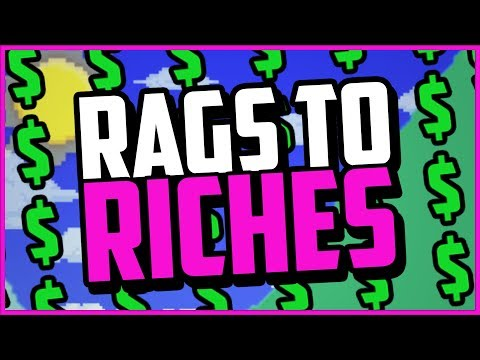 Terraria RAGS TO RICHES: The Quest For ULTIMATE Riches! 1.3.5 Gold Farming