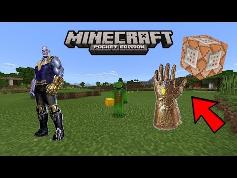 Minecraft PE | How to Make a Infinity Gauntlet