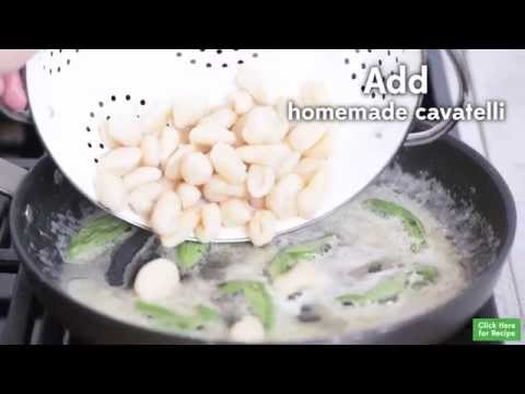 Recipe: Homemade Cavatelli with Butter Sage Sauce