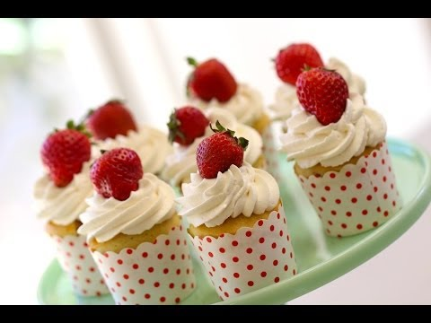 Beth's Strawberry Shortcake Cupcake Recipe | ENTERTAINING WITH BETH