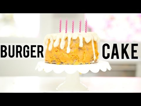 BURGER CAKE: BIRTHDAY BAKING WITH MEGHAN