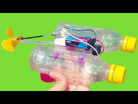 How to make Electric Bottle Boat Using DC Motor *At Home* | M SAQIB