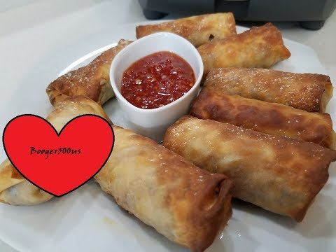 PORK EGG ROLLS AIR FRYER
