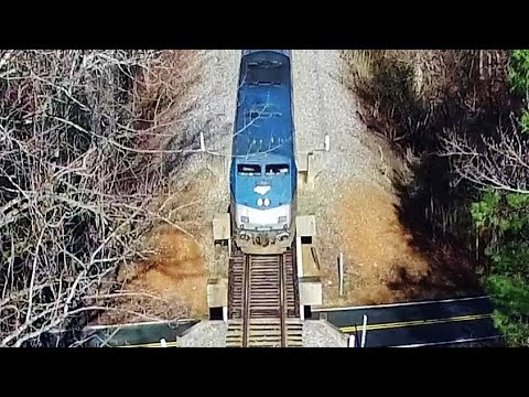 Amtrak #80 Carolinian Over the Trestle & Through the Woods - Burlington to Durham, NC