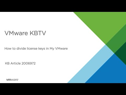 How to divide license keys in My VMware