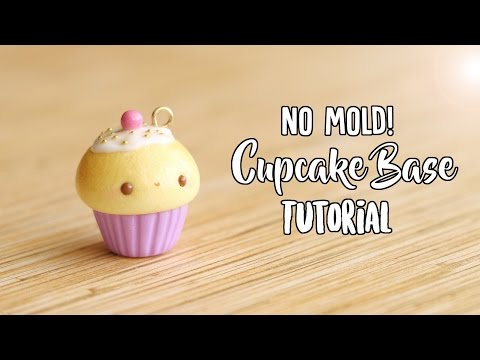 NO MOLD Cupcake Base│Polymer Clay Tutorial (Updated)