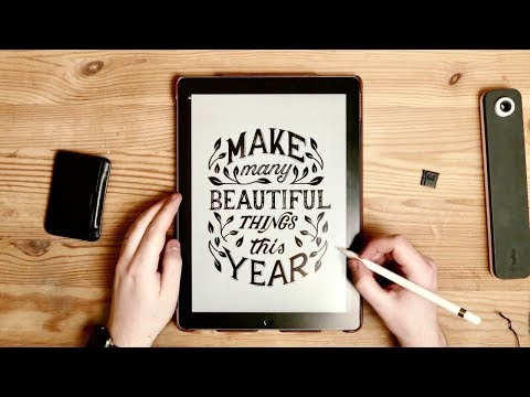 How To: Hand Lettering On iPad Pro | Procreate Top Tips ✏️