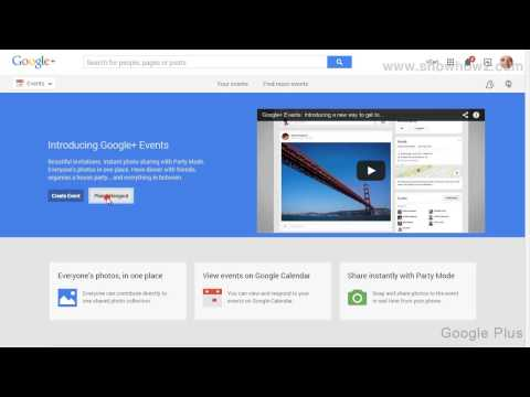 Google+ - How To Create A Hangout Event