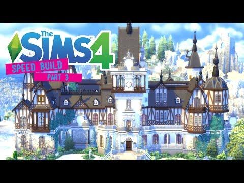 The Sims 4 -Speed Build- Peles Castle! (Part 3/4) Second Floor Interior - No CC -
