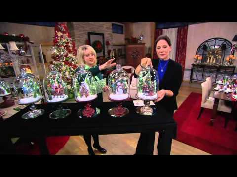Illuminated Holiday Scenes Under Glass by Valerie on QVC